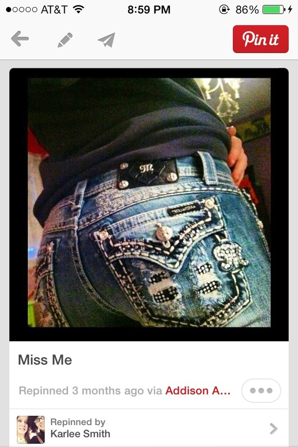jeans miss me jeans sparkly pockets