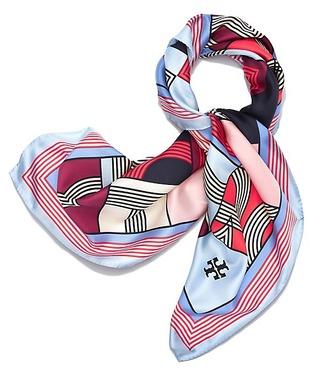 hair accessory head scarf silk scarf tory burch