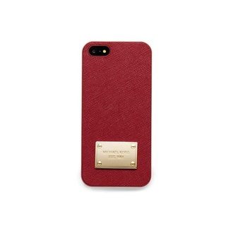 bag michael michael kors leather saffiano saffiano leather iphone iphone cover iphone 5 case iphone cases bordeaux red gold