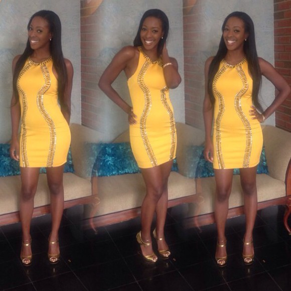 yellow yellow dress sexy dress studs gold gold sequins gold dress classy dress