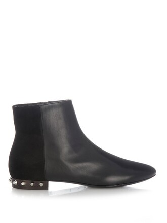 studded boots suede boots leather suede black shoes