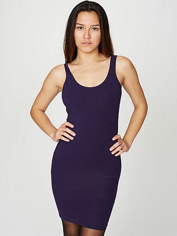 Cotton Spandex Jersey Scoop Back Tank Dress | American Apparel