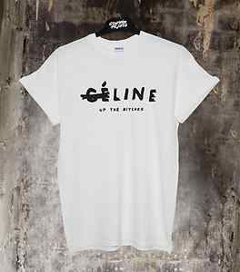 CELINE UP THE BITCHES TOP T SHIRT FELINE MEOW LINE ALONE CELFIE WTF UNISEX NEW | eBay