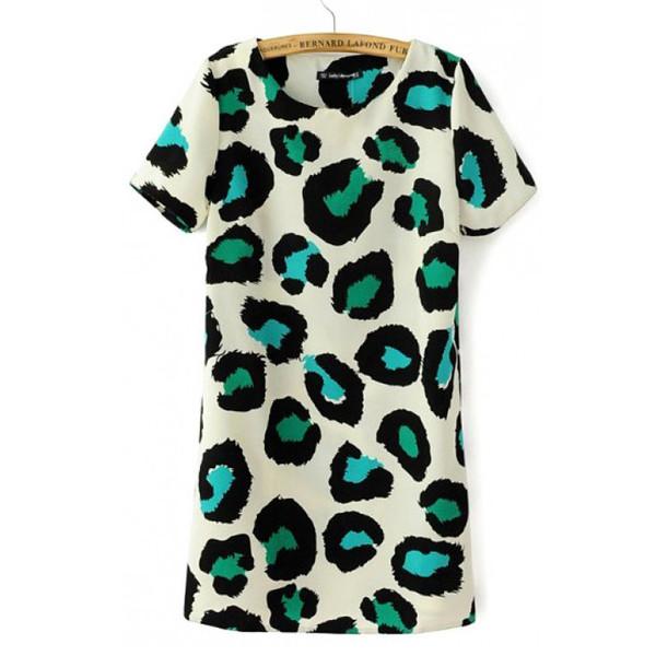 tunic leopard dress animal print colorful