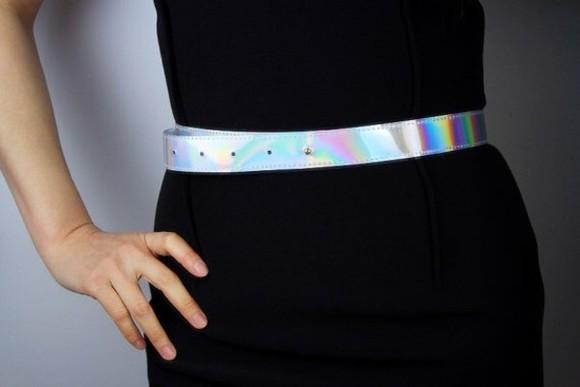 Belt waist belt holographic