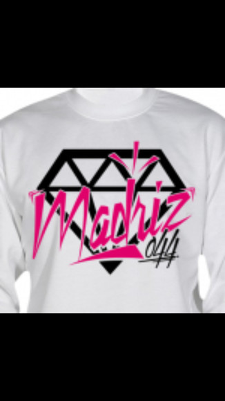 diamonds madriz044 white sweatshirt