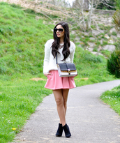 petit and sweet couture,sweater,shorts,bag,shoes,jewels,sunglasses