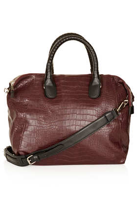 Croc Slouchy Holdall - Bags & Purses  - Bags & Accessories  - Topshop