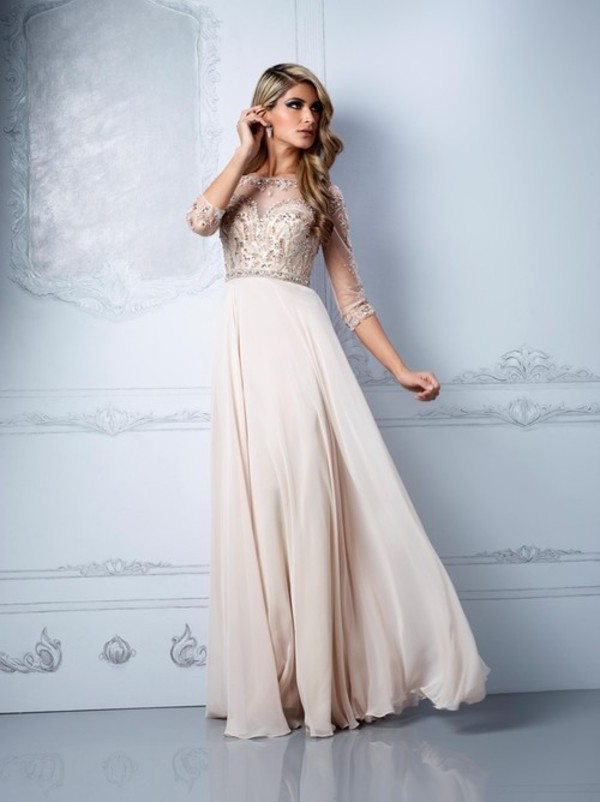Cream Prom Dresses - Boutique Prom Dresses