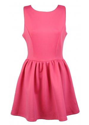Glamorous Pink Sleeveless Skater Dress | Glamorous Dress | Pink Sleeveless Skater Dress