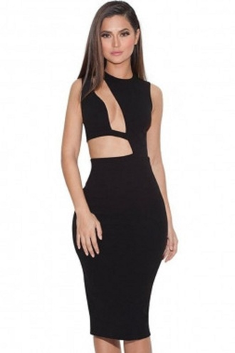 dress sexy party dresses cut-out dress wots-hot-right-now bandage dress sexy dress sexy black cocktail dress little black dress bodycon dress party dress