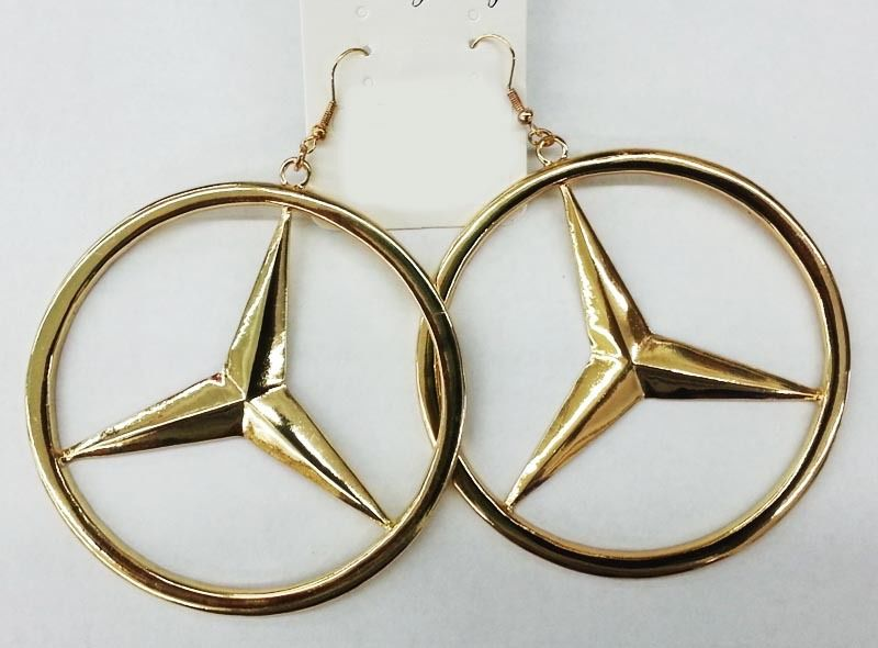 Mercedes benz hoop earrings fashion jewelry ebay for Mercedes benz charm