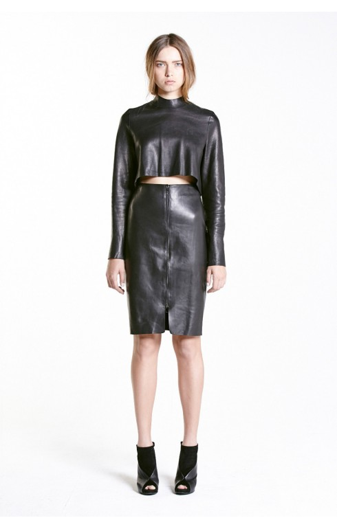Designer Leather Skirts