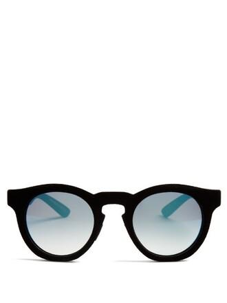sunglasses mirrored sunglasses velvet black