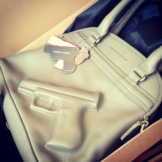 bag gun vandam cream handbag