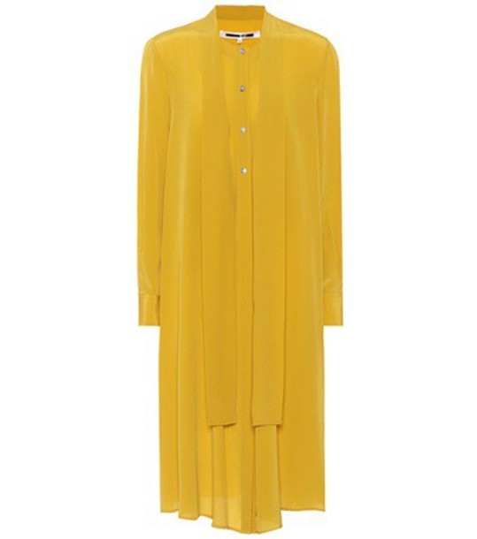 dress silk dress silk yellow