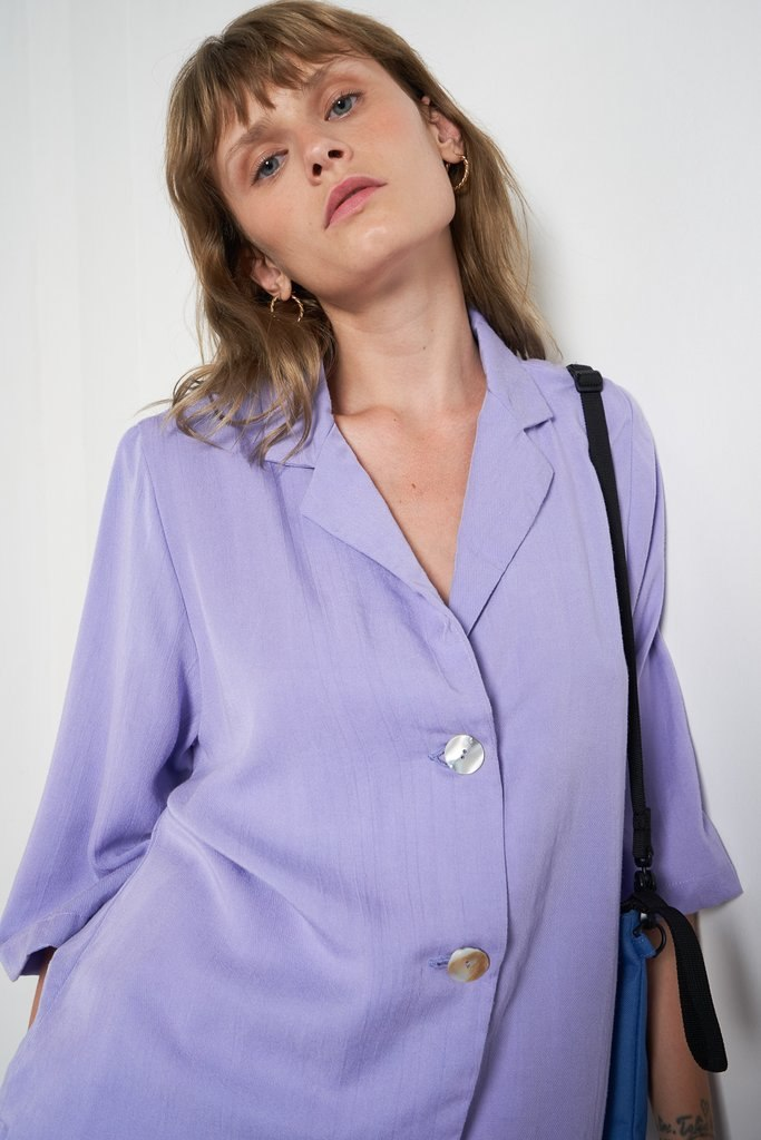 Secretary Shirt in Ultraviolet