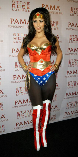 shirt wonder woman kim kardashian halloween costume beautiful celebrity halloween costume