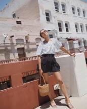 skirt,skirtp,olka dots,polka dots,polka dots skirt,top,polka dots top,sunglasses,bag,hoes,shoex
