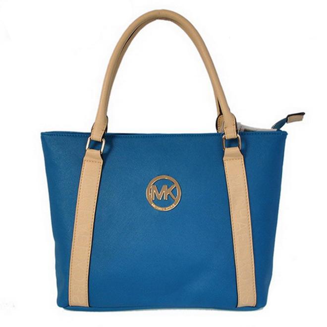 Michael Kors Jet Set Travel Small Blue Satchel Bag