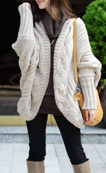 Knit Long Sleeves Open Front Cardigan from LillyFashion on Storenvy