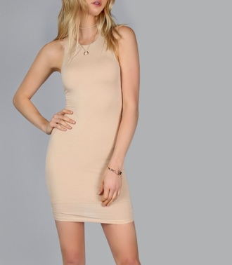 dress girly girl girly wishlist bodycon bodycon dress nude nude dress mini mini dress sleeveless sleeveless dress