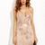 Gold Spaghetti Strap Open Back Sequins Bodycon Dress -SheIn(Sheinside)