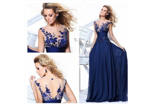 dress sexy dress royal blue prom gown sexy cocktail dress long homecoming dress blue wedding dress