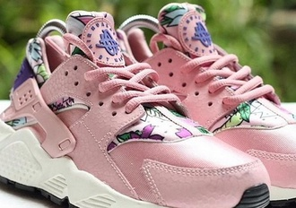 shoes huarache colorful purple pink nike lovely