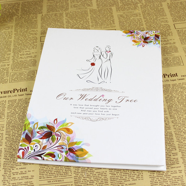 make-up wedding fingerprint attendance book
