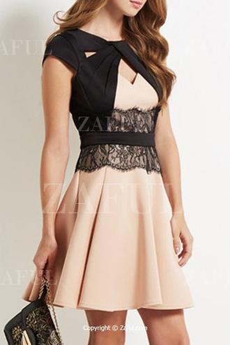 dress homecoming dress zaful black mini dress casual style lace lace dress cream gorgeous beautiful