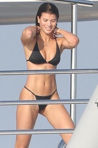 swimwear bikini bikini top bikini bottoms sofia richie black bikini