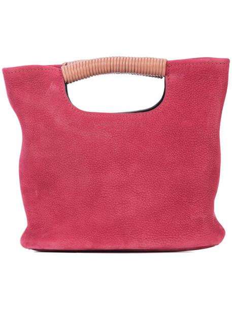 mini women bag bucket bag leather red