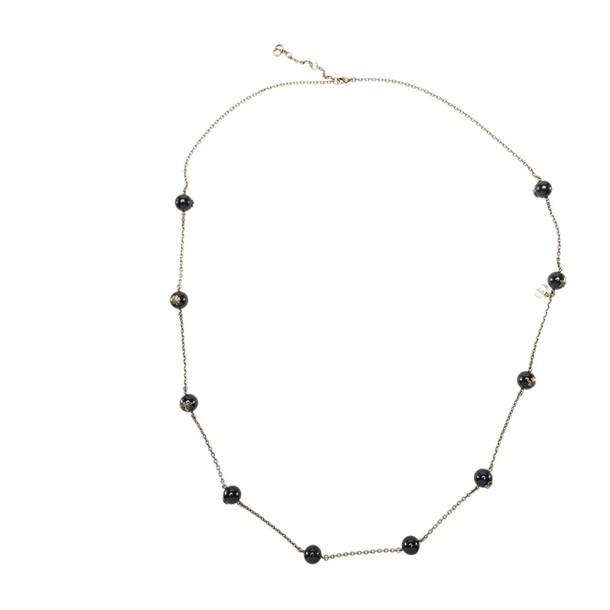dior necklace black jewels