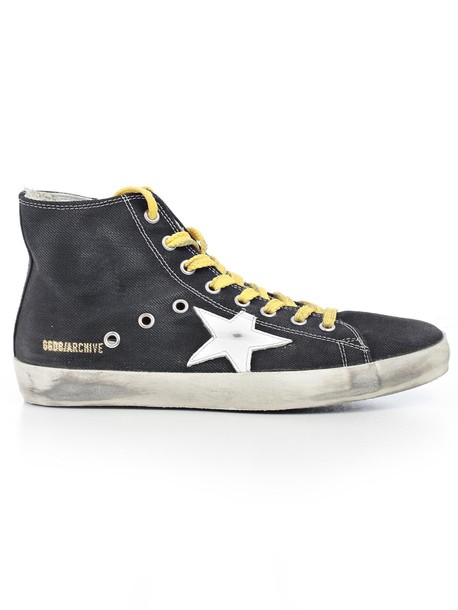 Golden goose sneakers lace yellow shoes