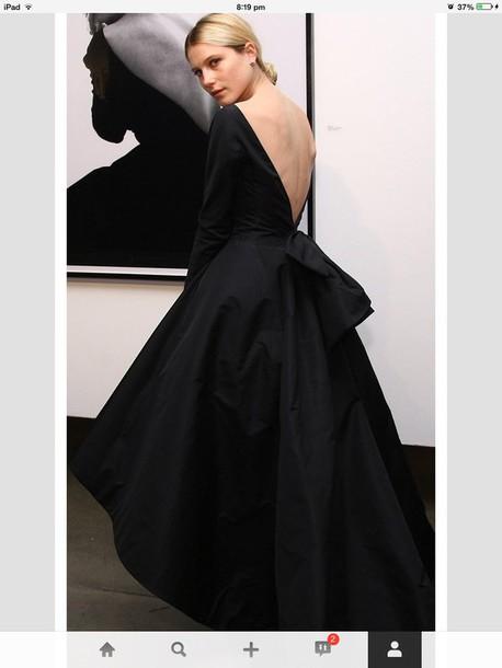 dress dior formal dress vogue 50s style black dress