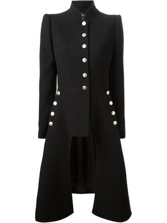 asymmetric coat alexander mcqueen