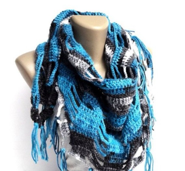 scarf crochet scarves scarves blue navy shawl jacket spring outfits best gifts birthday gift moms gift