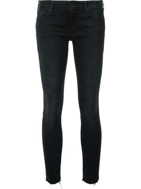 Mother jeans skinny jeans women spandex cotton black