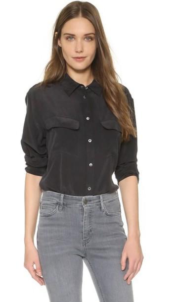 Equipment blouse black top