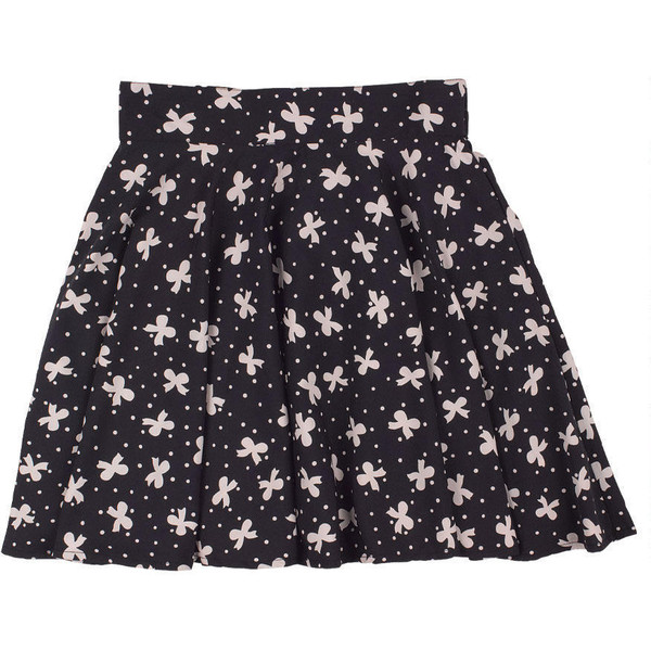 Printed Skater Skirt - Polyvore
