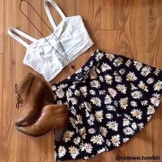 skirt daisy daisy skirt yellow