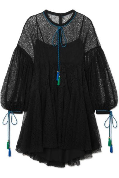 Philosophy di Lorenzo Serafini dress mini dress mini tassel lace black