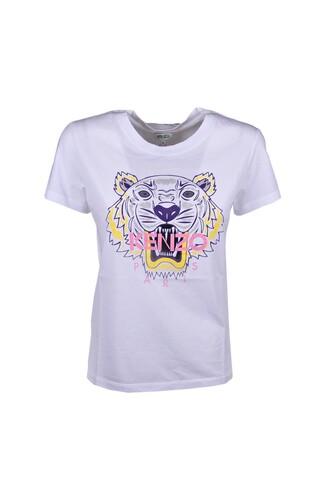 t-shirt shirt classic tiger blanc top