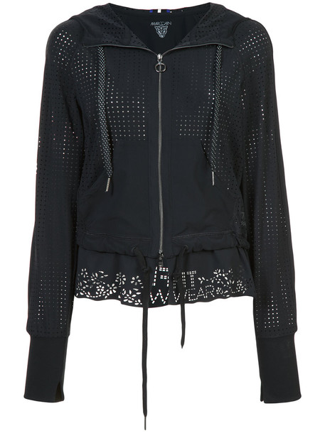 jacket hooded jacket women spandex black