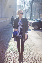 the limits of control,blogger,romper,cardigan,checkered