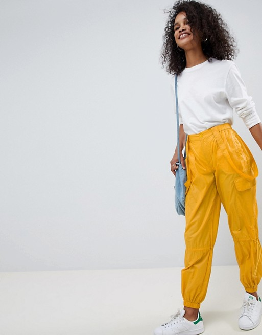 ASOS DESIGN parachute ruched trousers at asos.com