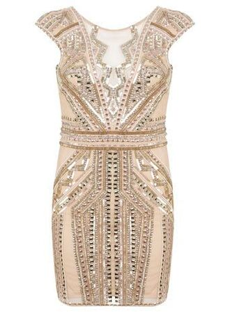 dress nude sequins 20's 2015 2016 new year's eve party