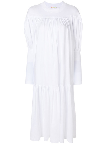 MARNI dress women white cotton