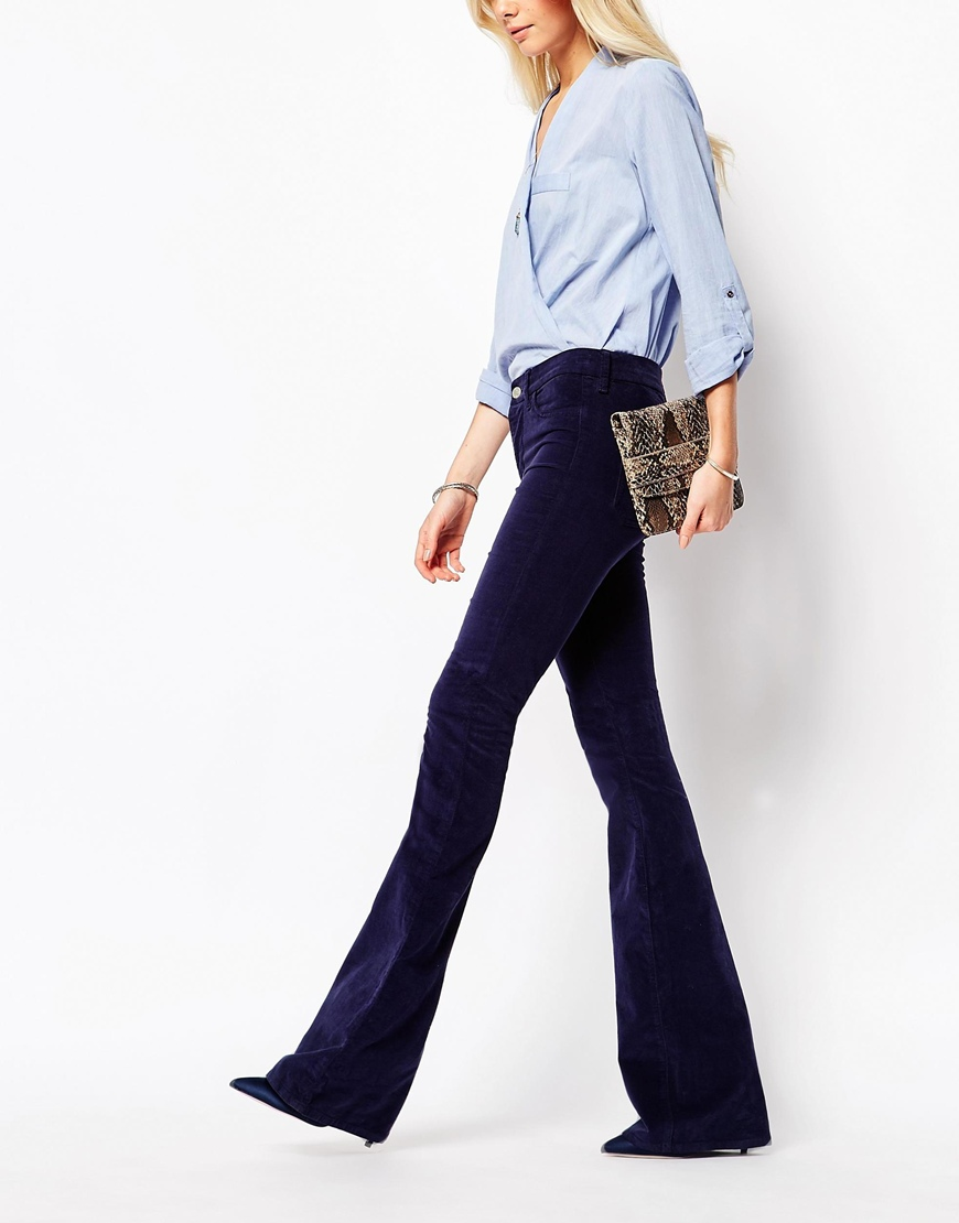 Jeans Skinny Marrakesh Flare Jeans In 70S Velvet at asos.com